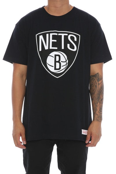 Mitchell & Ness Brooklyn Nets Team Logo Tee Black