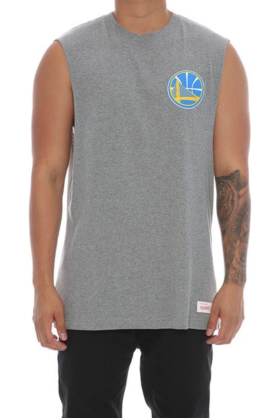 Mitchell & Ness Warriors Triple Double Muscle Grey