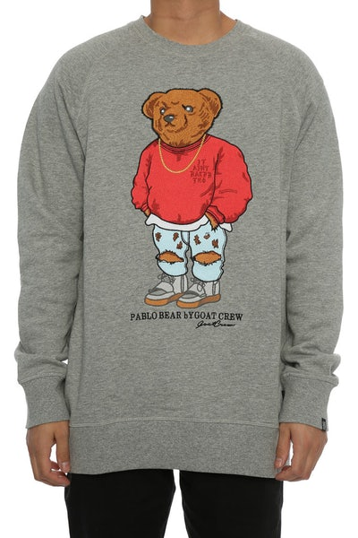 Goat Crew Pablo Embroidery Sweater Grey Heather