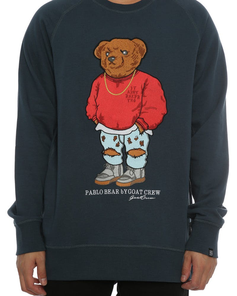 Goat Crew Pablo Embroidery Sweater Navy