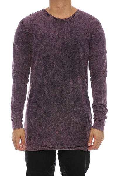 Silent Theory Acid Long Sleeve Tee Burgundy