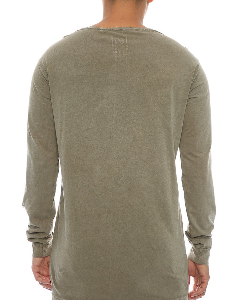 Silent Theory Acid Long Sleeve Tee Khaki