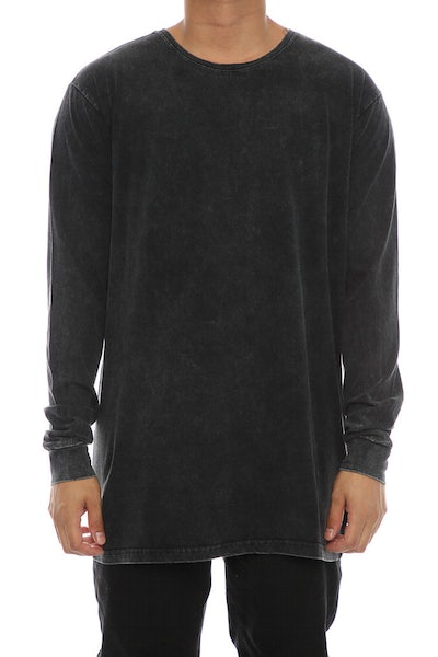 Silent Theory Acid Long Sleeve Tee Washed Black