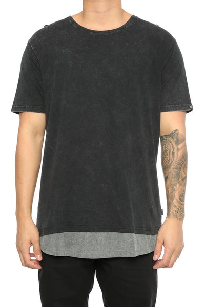 Silent Theory Overlap Tee Black/Grey