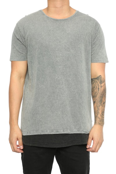 Silent Theory Overlap Tee Grey/Black