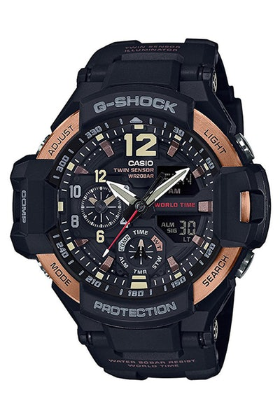 G-Shock GA100RG Gravity Master Black/Rose Gold