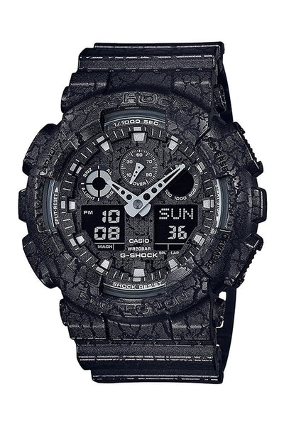 G-Shock GA100CG Cracked Pattern Black