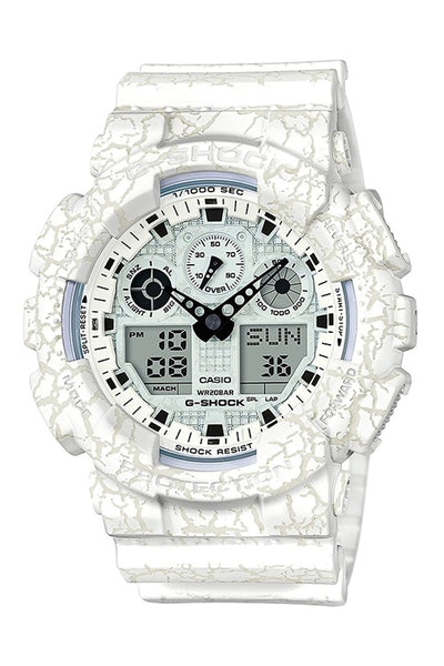 G-Shock GA100CG Cracked Pattern White