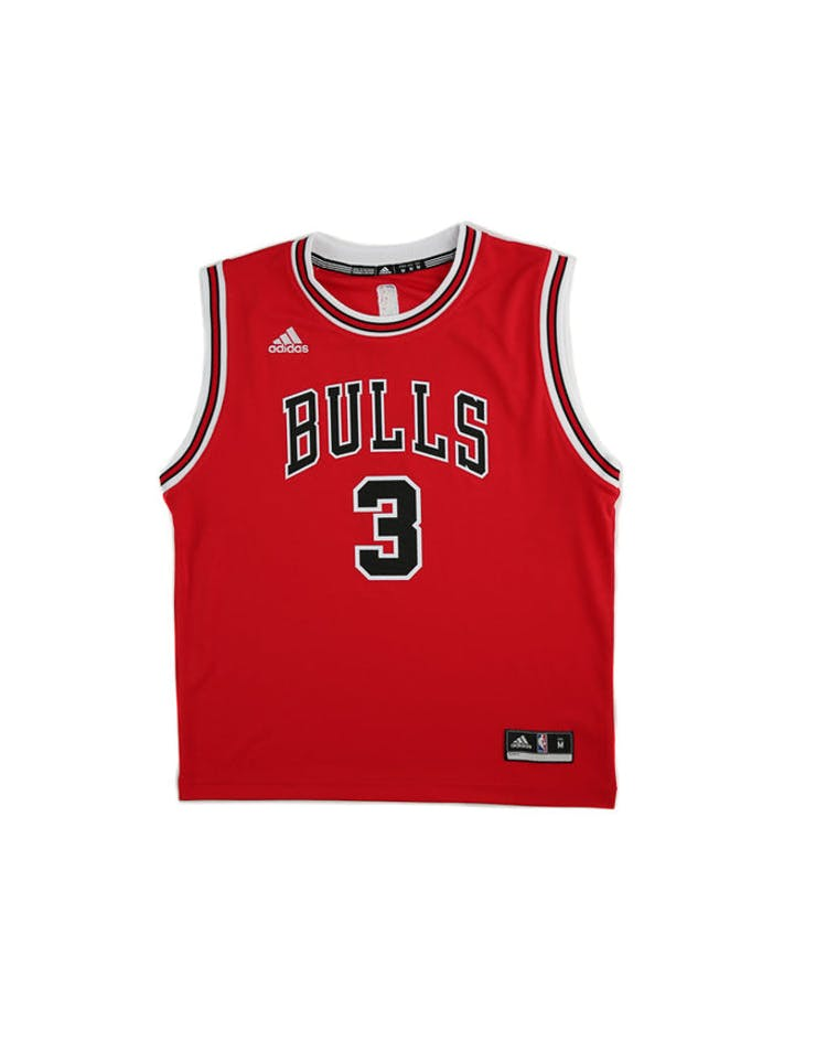 los angeles e0c51 29fd9 Adidas Performance NBA Chicago Bulls Dwyane Wade Youth Jersey '3' Red