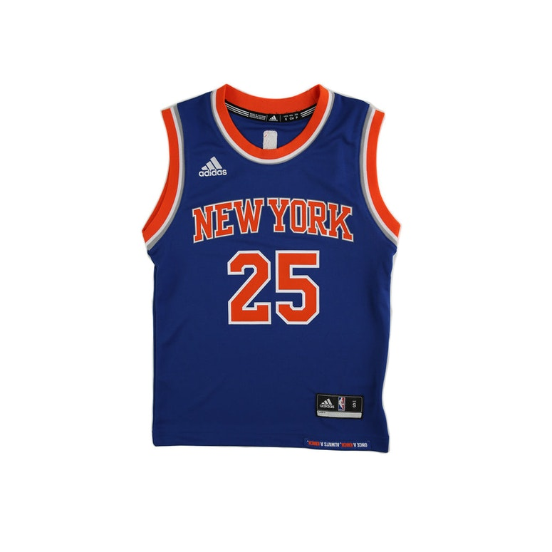 ... Adidas Performance NBA New York Knicks Derrick Rose Youth Jersey 25 Blue  ... d612c7797