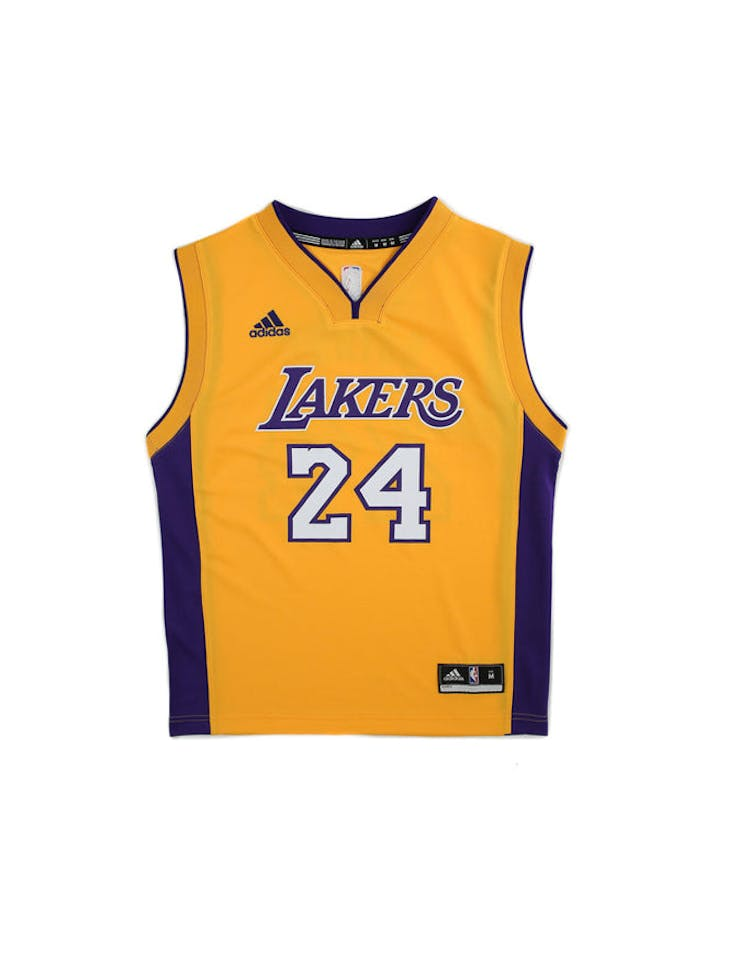 82e6f0e7a565 Adidas Performance NBA Los Angeles Lakers Kobe Bryant Youth Jersey  24 –  Culture Kings