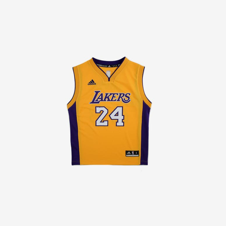 size 40 af1a0 b5681 Adidas Performance NBA Los Angeles Lakers Kobe Bryant Youth Jersey  24 –  Culture Kings