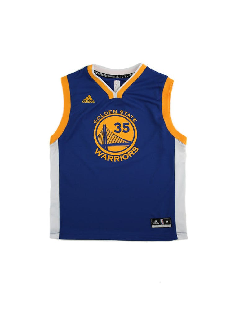Adidas Performance NBA Golden State Warriors Kevin Durant Youth Jersey '35' Blue