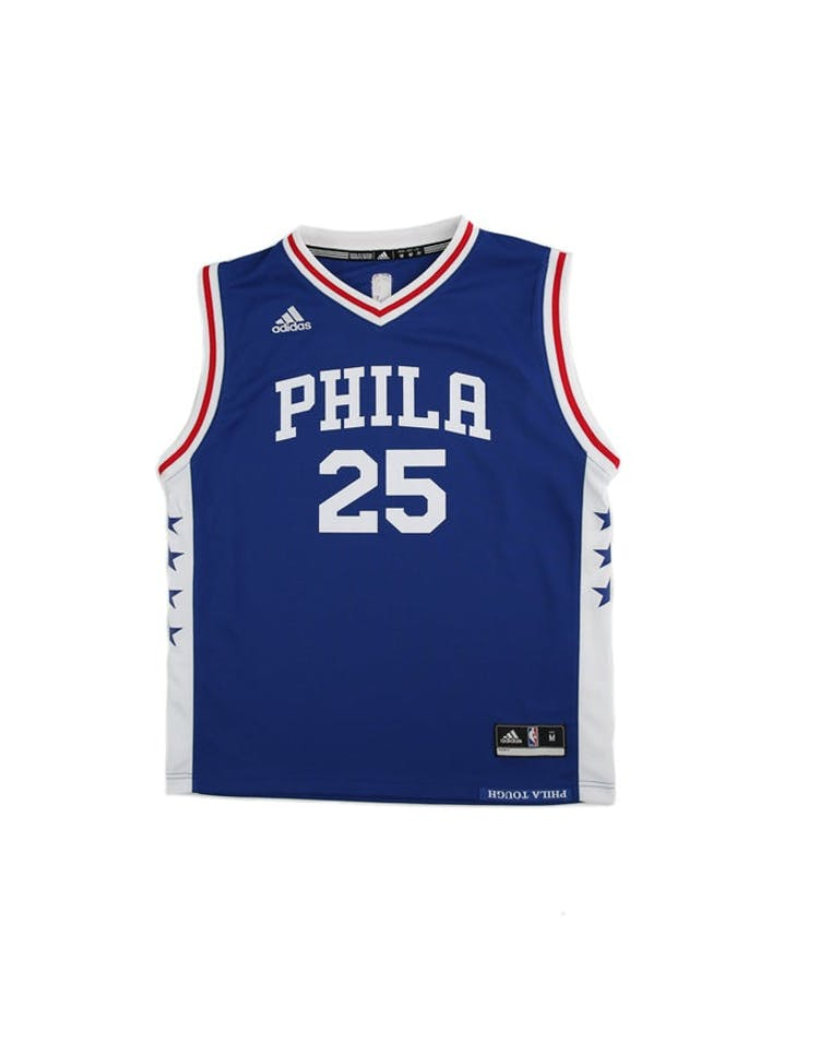 ba26f25709d Adidas Performance NBA Philadelphia 76ers Ben Simmons Youth Jersey  25 –  Culture Kings