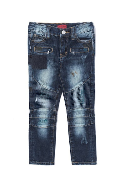 Haus of JR Clayton Distressed Biker Denim Indigo