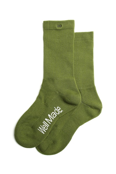 Well Made Daily Sock Army Green