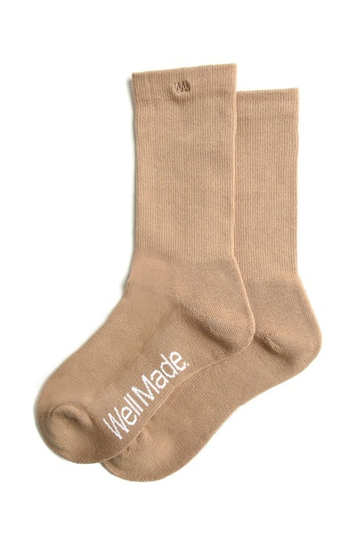 Well Made Daily Socks Camel
