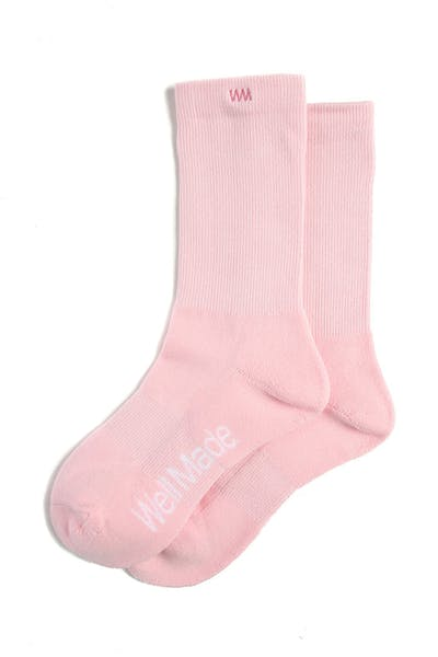 Well Made Daily Socks Pink