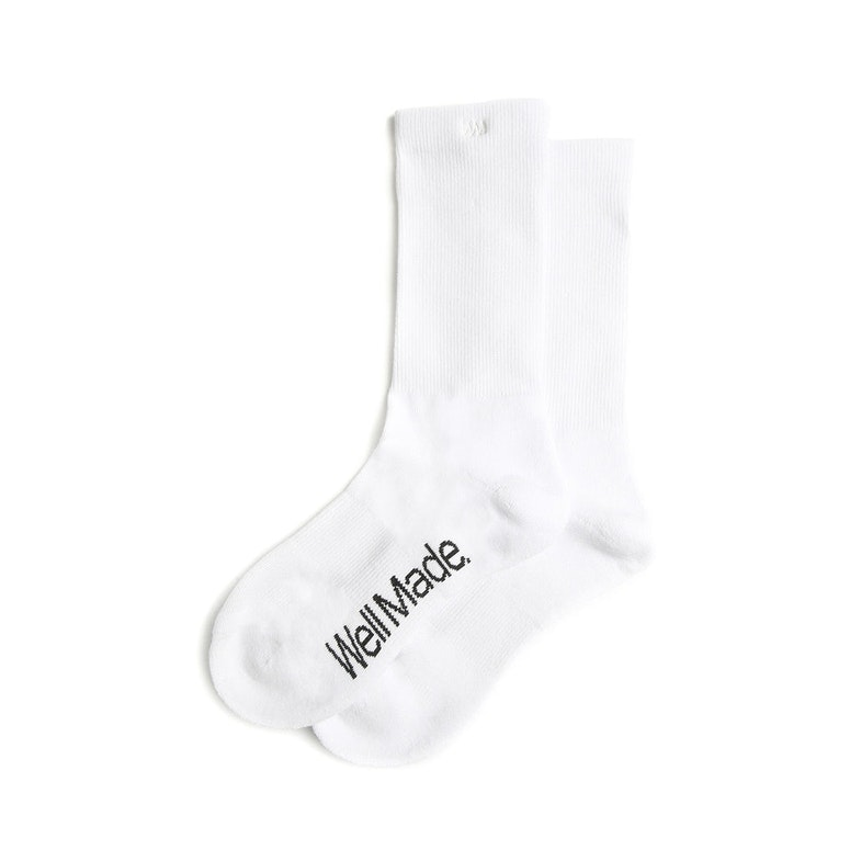 Well Made Daily Socks White