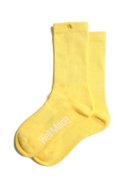 Well Made Daily Socks Yellow