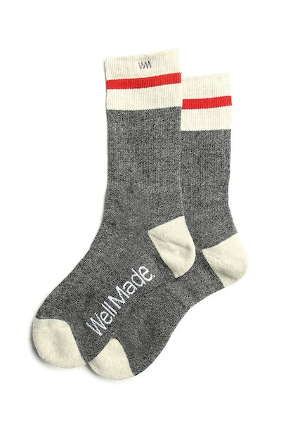 Well Made Lakyn Sock Grey/White/Red