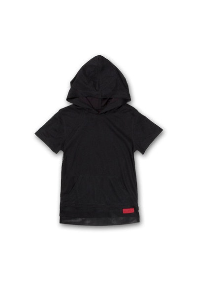 Haus of JR mesh Joey Hoodie Black