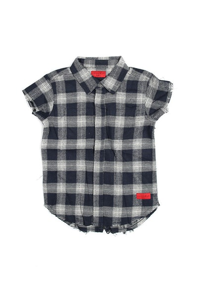 Haus of JR Marcus SS Flannel Navy