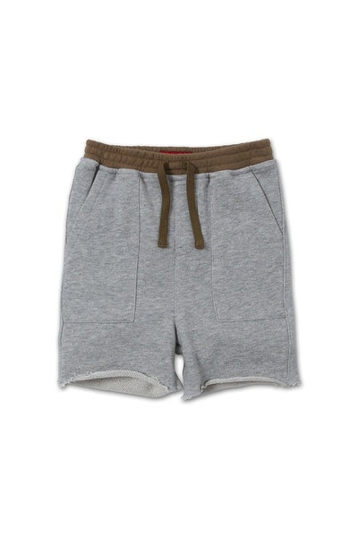 Haus of JR Drop Crotch Peanut Short Grey