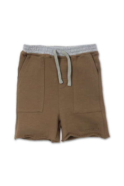 Haus of JR Drop Crotch Peanut Short Olive