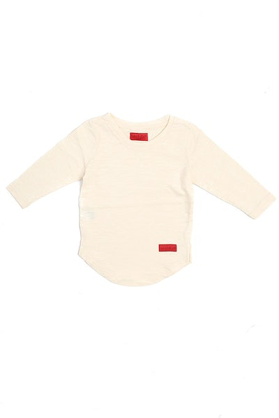 Haus of JR Trevor L/S Scallop Tee Off White