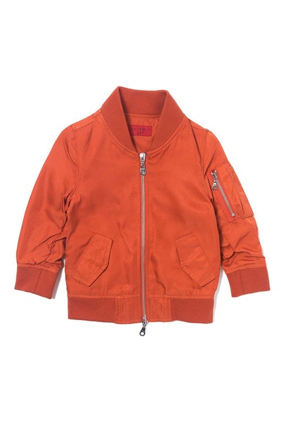 Haus of JR Devin Satin Bomber Jacket Orange