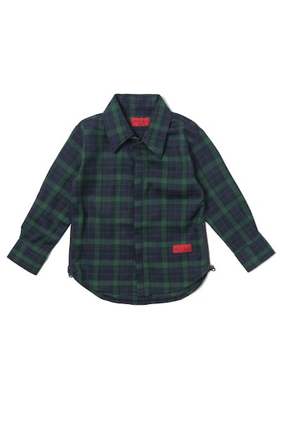 Haus of JR Chris L/S Flannel Navy/Green