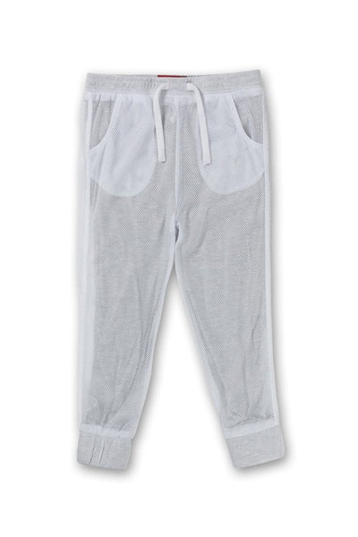 Haus of JR Mesh Joey Jogger White