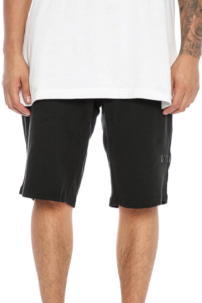 Sly Guild Waffle Knit Track Short Black