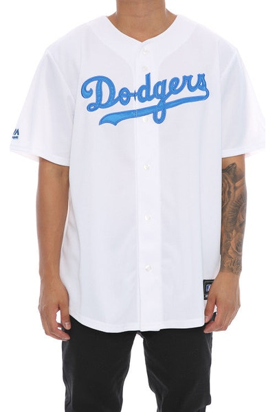 Majestic Athletic MLB Dodgers Replica Jersey White/Royal