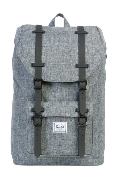 HERSCHEL SUPPLY CO LITTLE AMERICA MID-VOLUME RUBBER Charcoal/Black