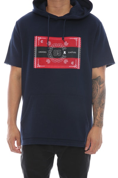 Crooks & Castles Authority Short Sleeve Hood Navy