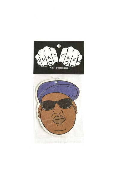 Goat Crew Biggie Mini Head Air Freshener (Black Ice Scent)