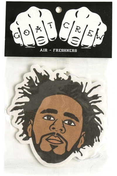 Goat Crew J Cole Mini Head Air Freshener Multi-coloured (Vanilla Scent)
