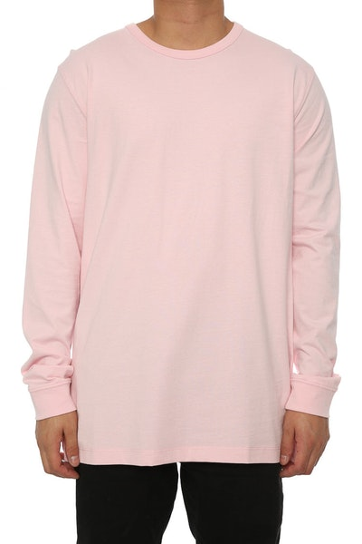 Well Made MJ Basic Long Sleeve Tee Pink