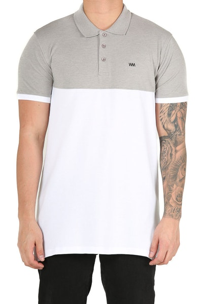 Well Made Polo SS Tee Grey/White