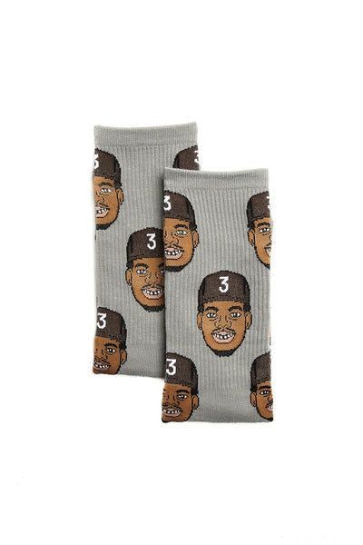 Goat Crew Chance the Rapper Sock Grey Marle