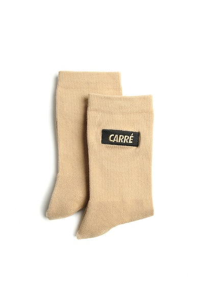 Carré Incline Socks Stone