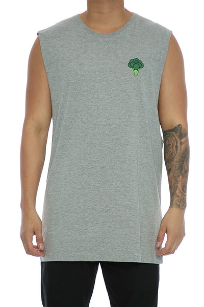 Goat Crew Broccoli Muscle Tee Grey