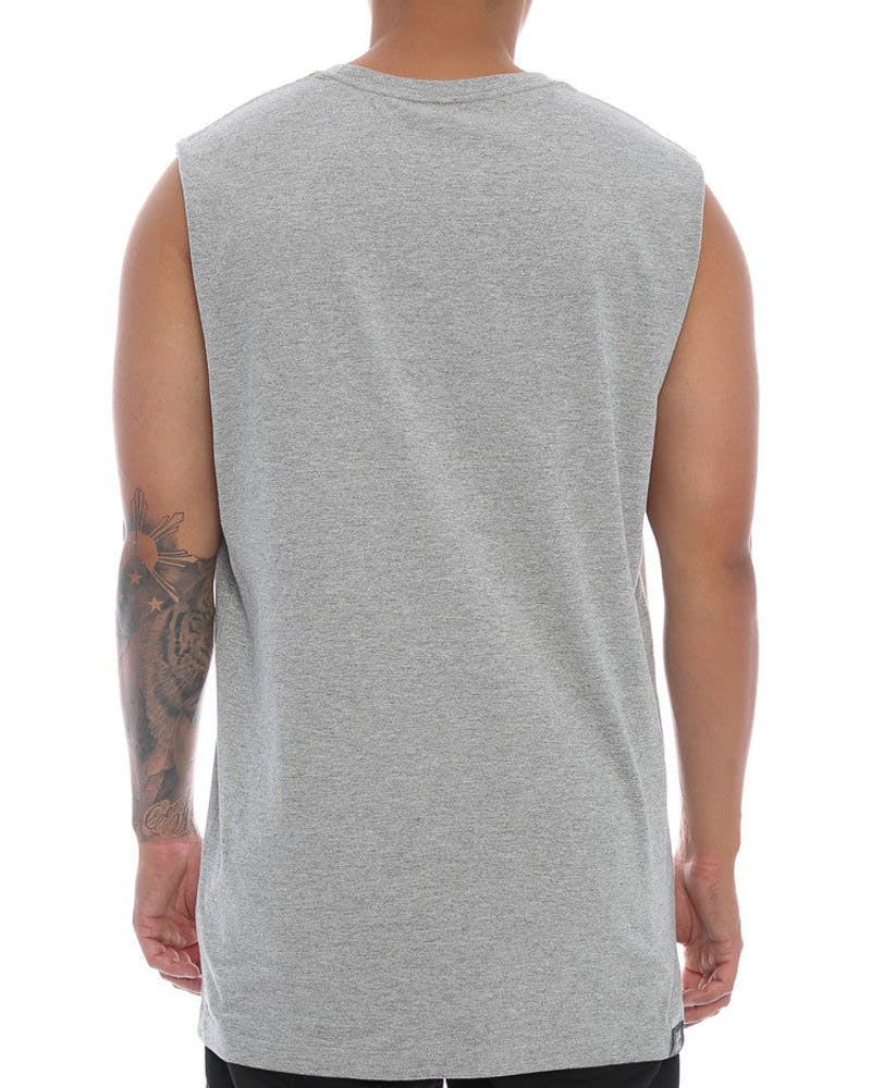 Goat Crew Eazy Mini Head Muscle Tee Grey