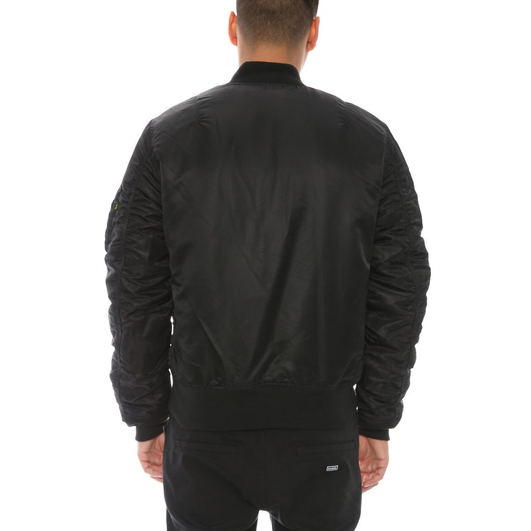 Alpha Industries MA-1 Slim Fit Flight Jacket Black – Culture Kings