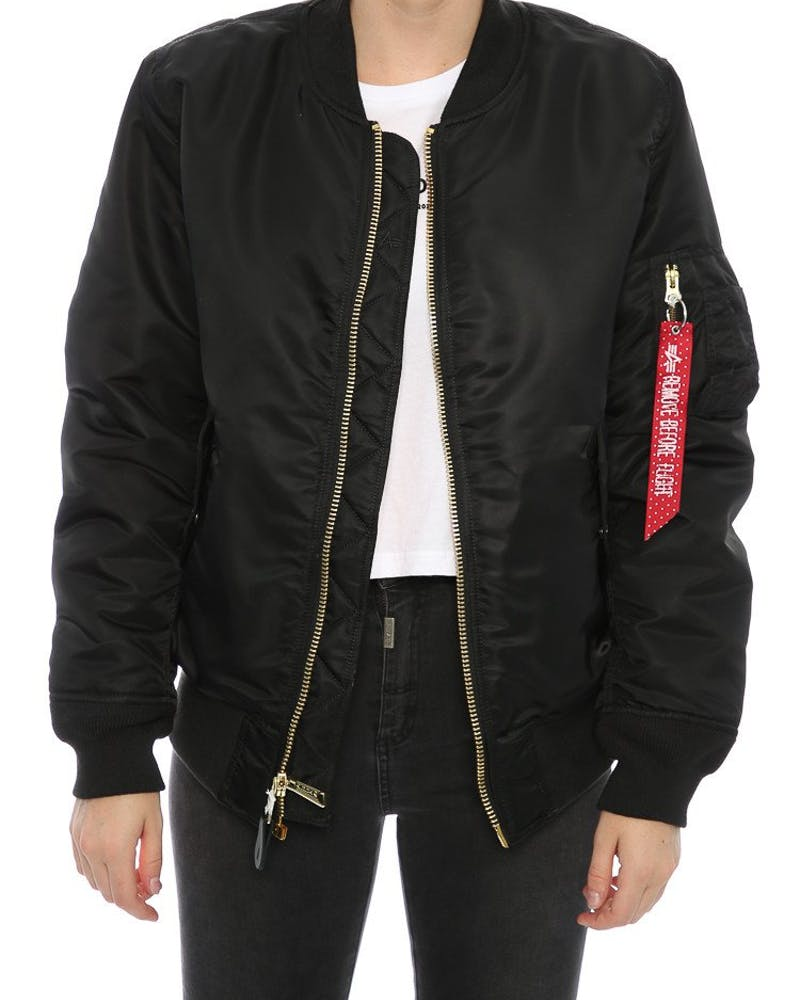 Alpha Industries Women's MA-1 Slim Flight Jacket Black