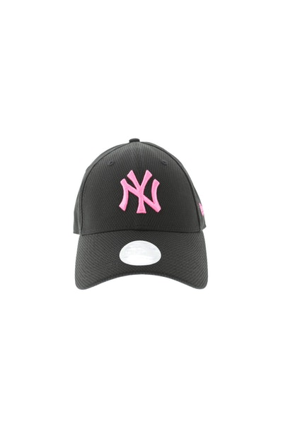 New Era Women's New York Yankees Neon Pop 940 Velcroback Black/Pink