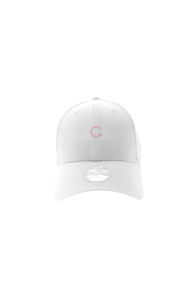 New Era Women's Chicago Cubs Mini Logo 940 Strapback White/Pink