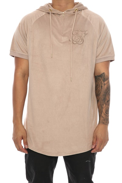 Sik Silk Cotton SDE Hood Baseball Tee Sand